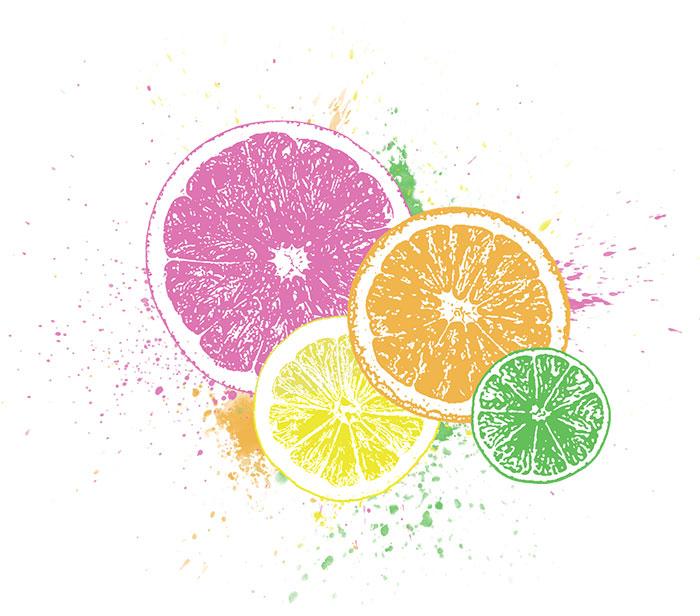 Citrus Splash T-shirt » Bottomless Design » All Natural