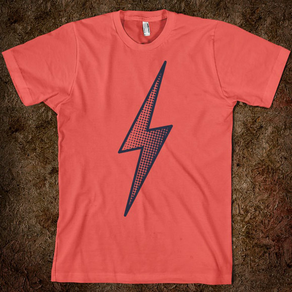 0b734313e7b380 Lightning Bolt Halftone T-shirt » Bottomless Design » All Natural ...
