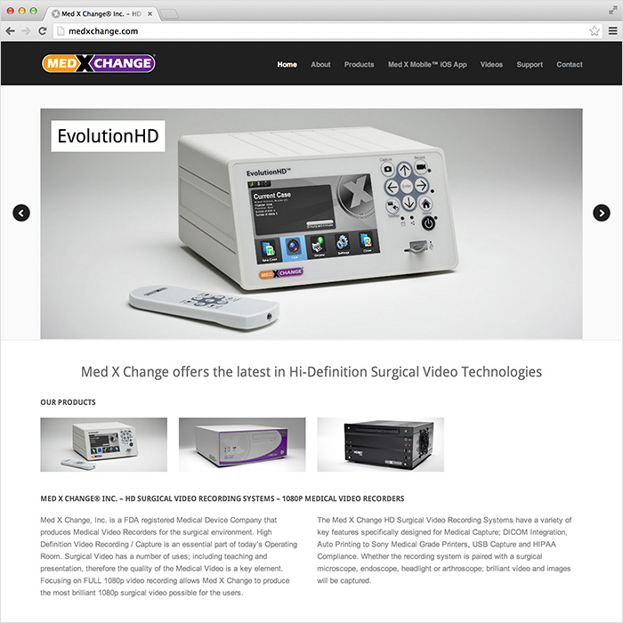 Med X Change Website Design