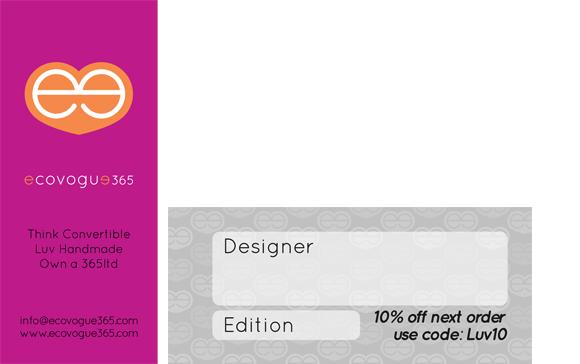 ecovogue365 mini business card