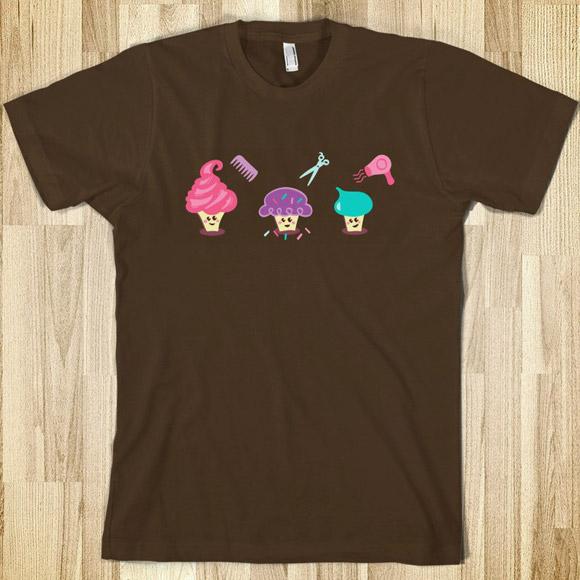 Cupcake Coiffure T-shirt