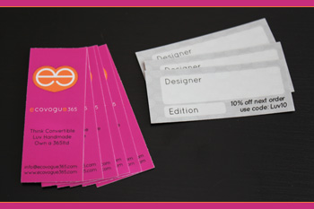 ecovogue365 Business Cards
