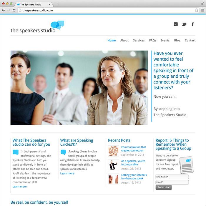 The Speakers Studio Website