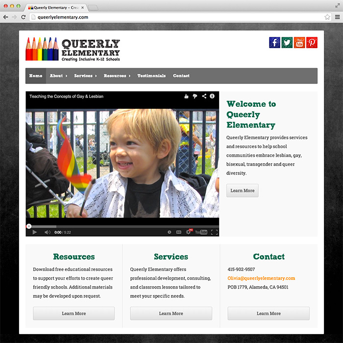 Queerly Elementary website