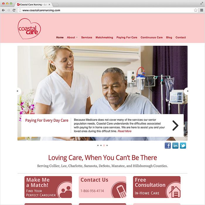 Coastal Care Nursing website