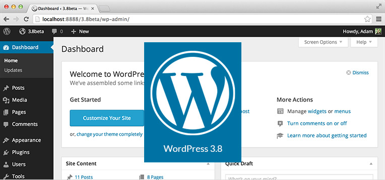 how to change wordpress header menu