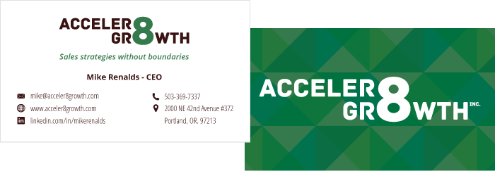 Acceler8 Growth Business Card
