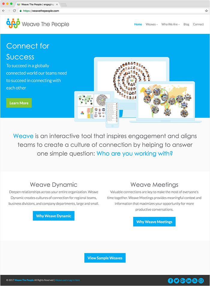 Weave The People website
