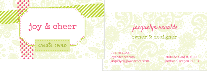 Joy & Cheer Business Card