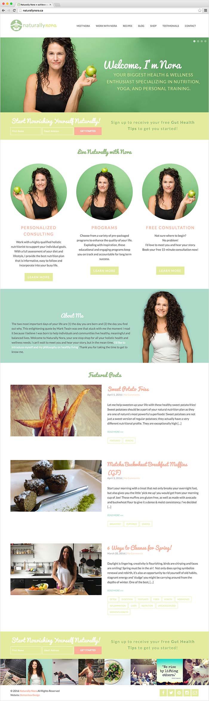 Naturally Nora website