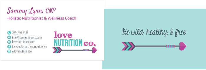 Love Nutrition Co. Business Card