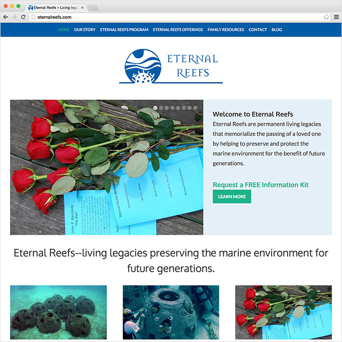 Eternal Reefs website