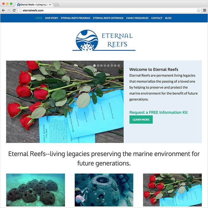 Eternal Reefs website