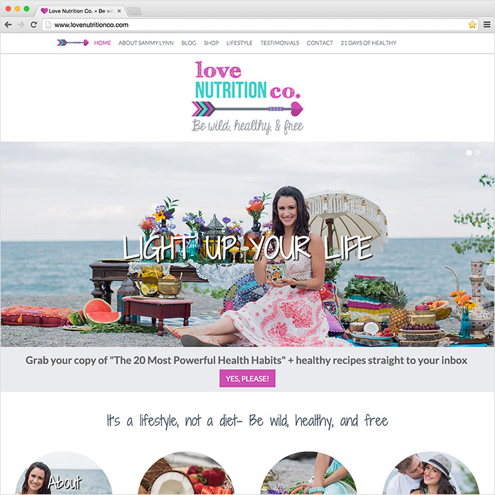 Love Nutrition Co. website