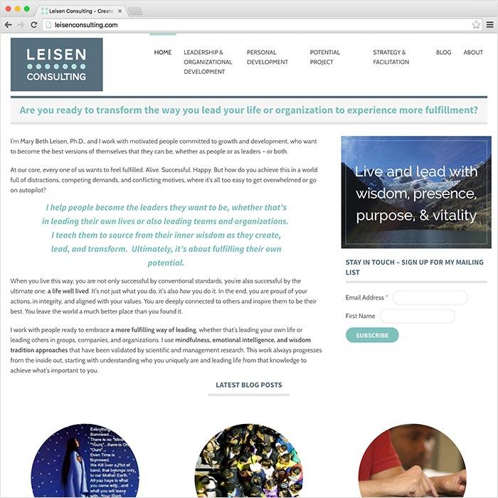 Leisen Consulting Website