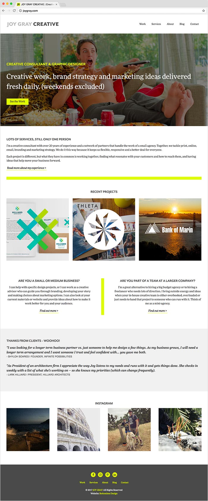 Joy Gray Creative website