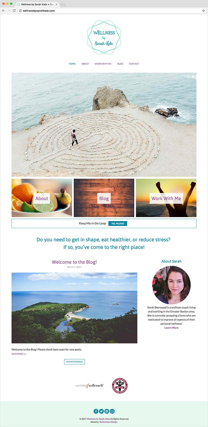 Wellness by Sarah-Kate website